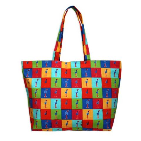 Pukeko Pop Art Beach Bag