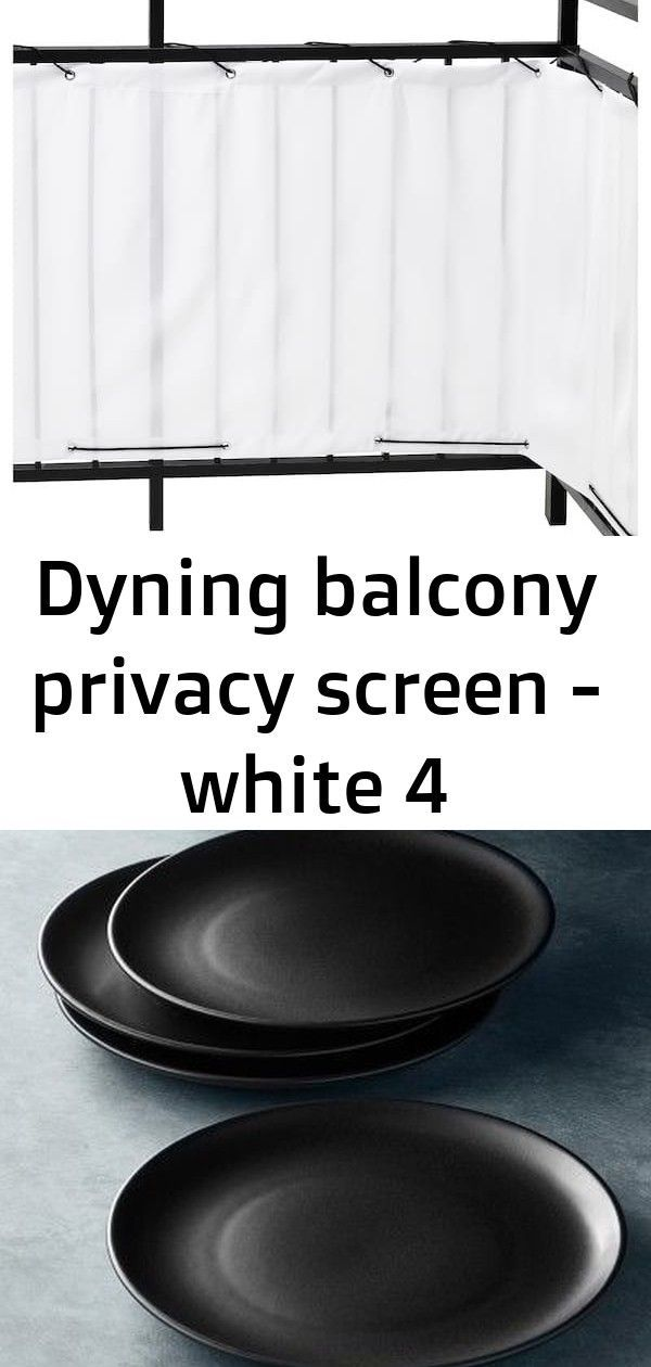 Dyning balcony privacy screen - white 4 #balconyprivacy DYNING Balcony privacy screen - white - IKEA Open Kitchen Matte Coupe Dinner Plates, Set of 4, Black SUNNERSTA Utility cart - IKEA Quartersawn white oak kitchen cabinets.... Friday Eye Candy - A Thoughtful Place #balconyprivacy