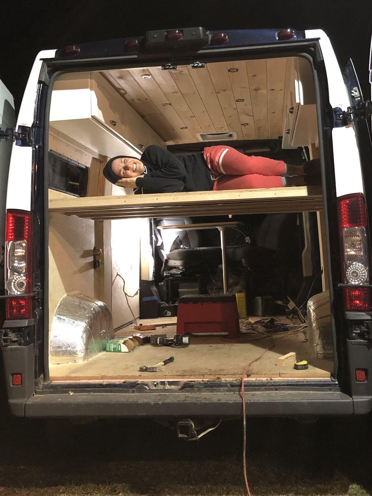 Dyi Camper Van Bed Build Build A Platform Bed Van Bed Chic