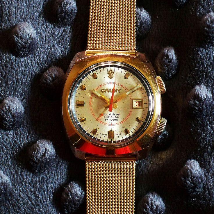 c373cf3e871a Cauny Prima 17 Jewel Alarm w Date PIT 1970