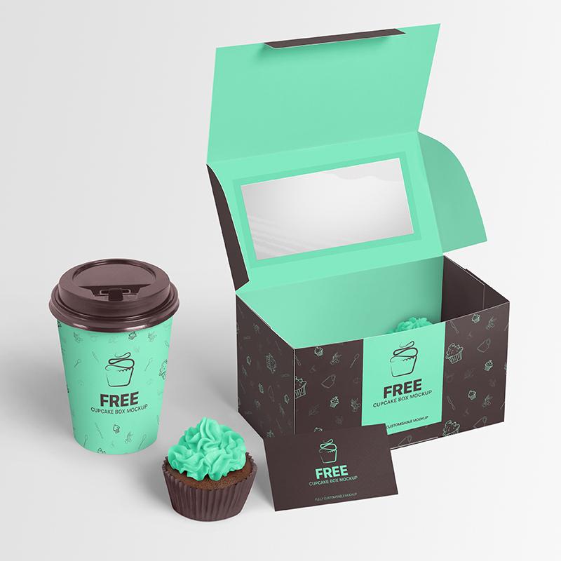 Download Free Cupcake Box Mockup Free Cupcake Packaging Box Mockup Pixpine In 2020 Box Mockup Free Mockup Cupcake Packaging