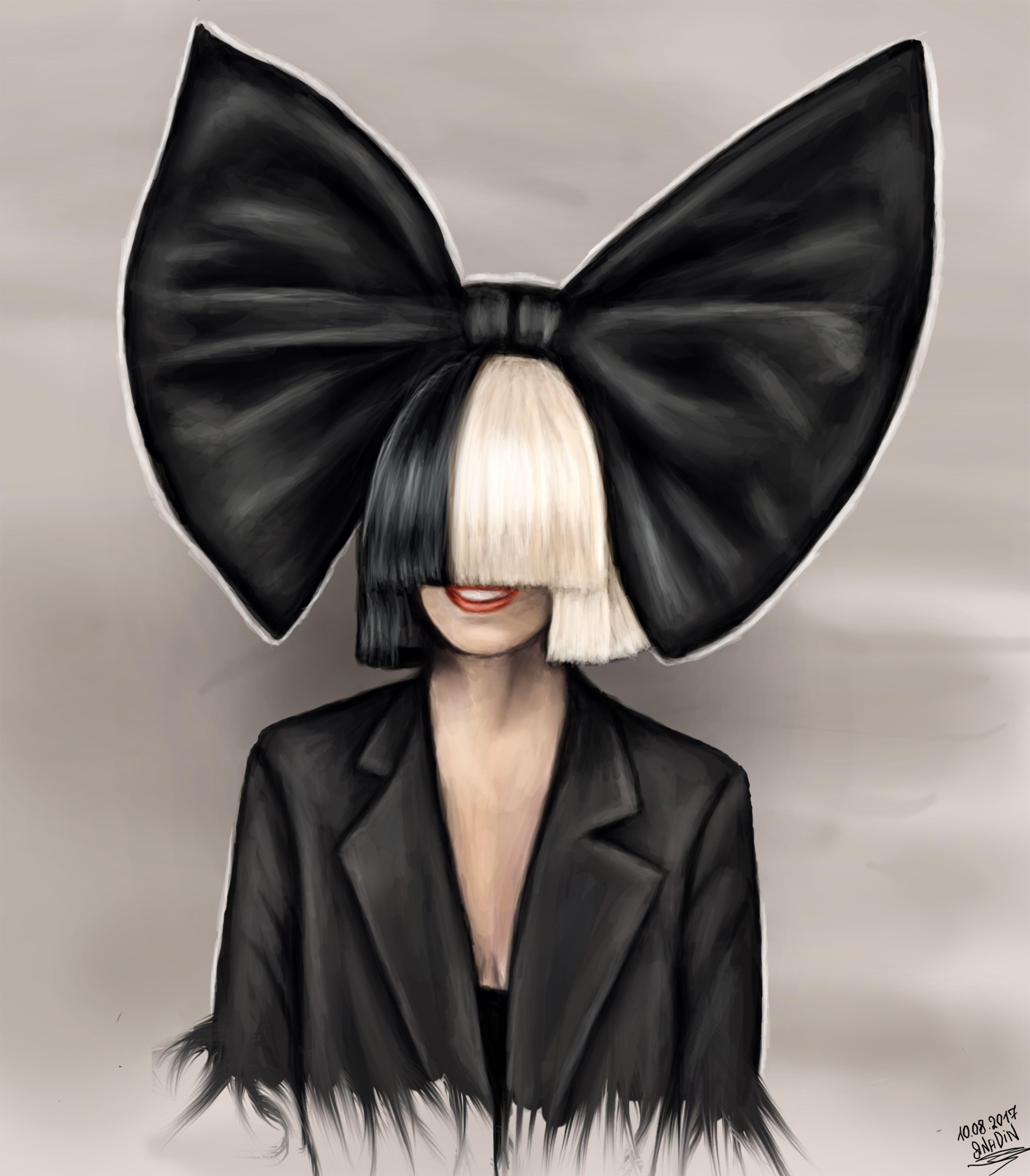 Sia Singer Fanart Art Draw Drawing Hair Chandelier