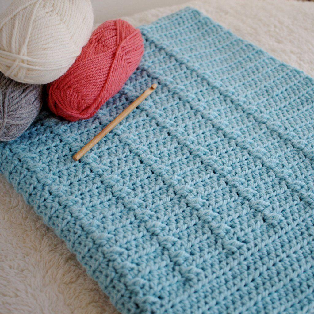 Lakeshore Ripples Baby Blanket Crochet Pattern Hiddenmeadowcrochet
