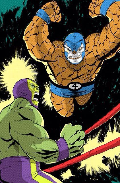 The Thing vs Hulk Wrestling