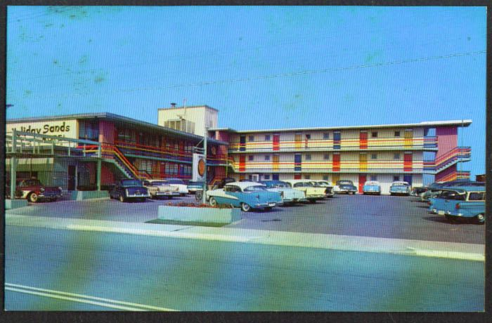 Rooms: Holiday Sands Motel Virginia Beach VA Postcard 1950s