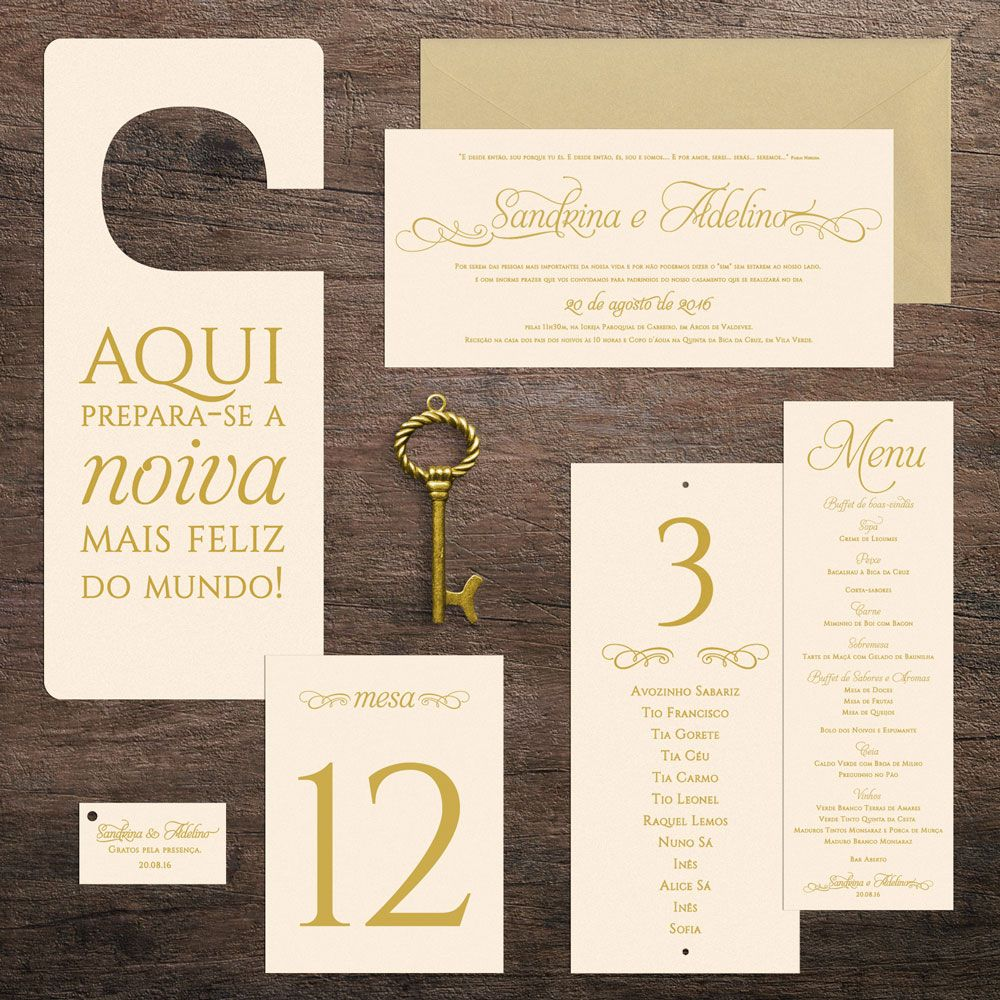 Classic stationary and gifts for Sandrina and Adelino\'s wedding ...