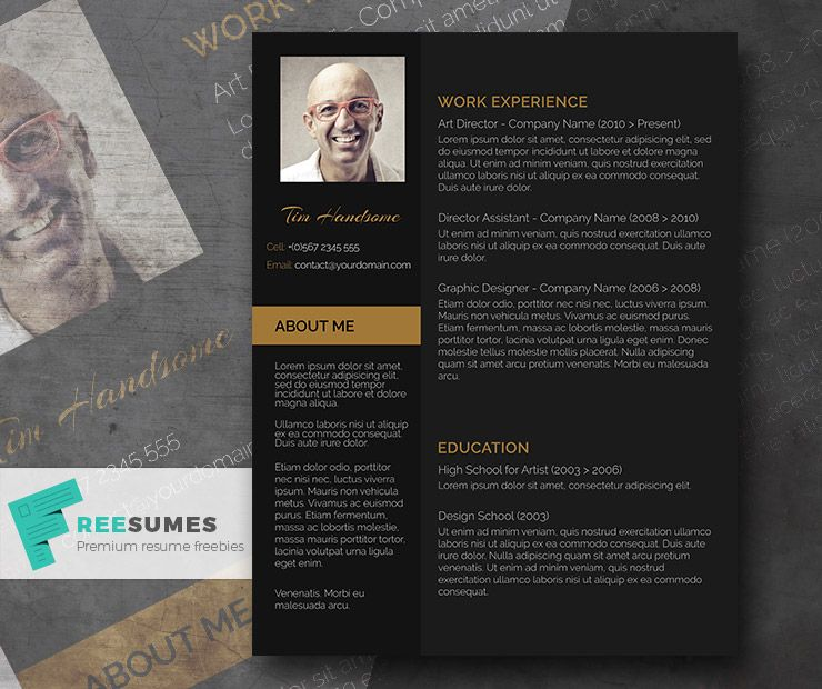 Charcoal Black u2013 A Dark Themed Resume for Free Creative cv - free creative resume templates