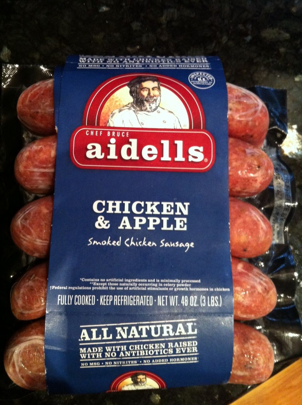 Costco: Aidells Chicken Sausage – They have a variety of chicken-sausage and it's super tasty! They are gluten-free, soy-free, and no MSG.