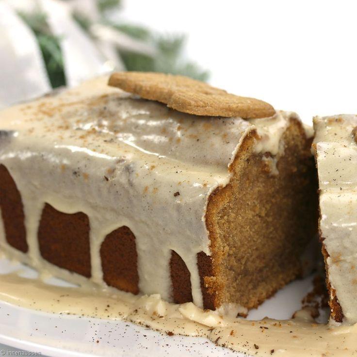 Spekulatius-Kuchen mit Ahorn-Sirup-Zimt Glasur - InnenAussen