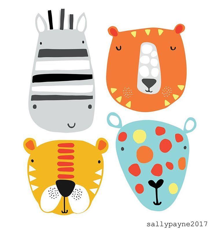 "334 Likes, 3 Comments - •Sally Payne (UK)• (@sallypayne_design) on Instagram: ""Hi Friday #fridayfaces #friday #tgifriday #illustration #illustrator #characters"""