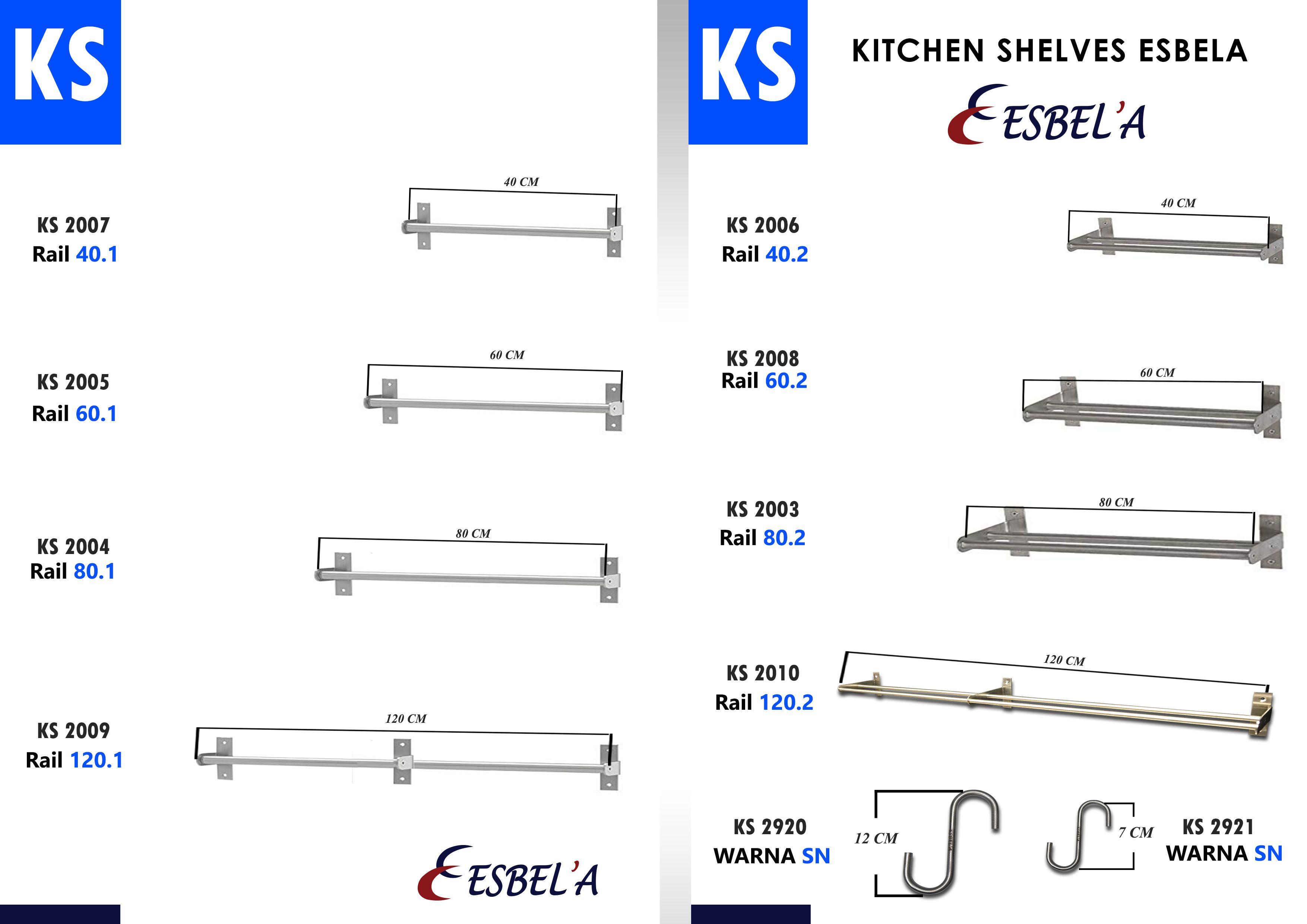 Kitchen Shelves Rak Peralatan Dapur Dapur