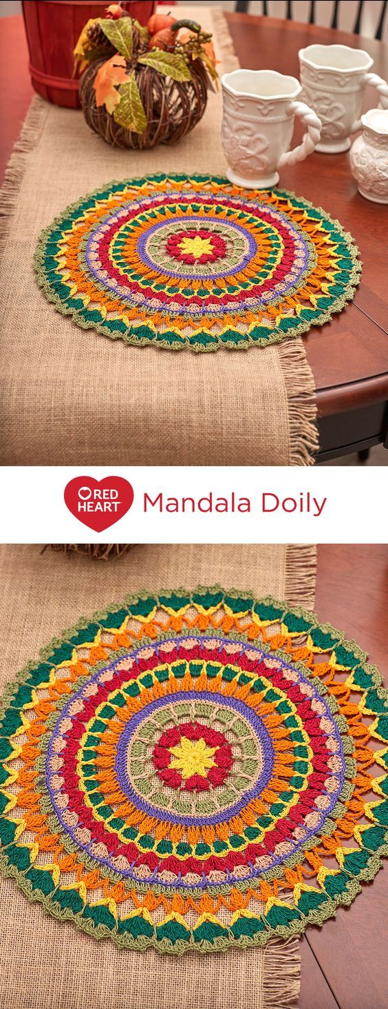 Mandala Doily By Cristina Mershon - Free Crochet Pattern - (redheart ...
