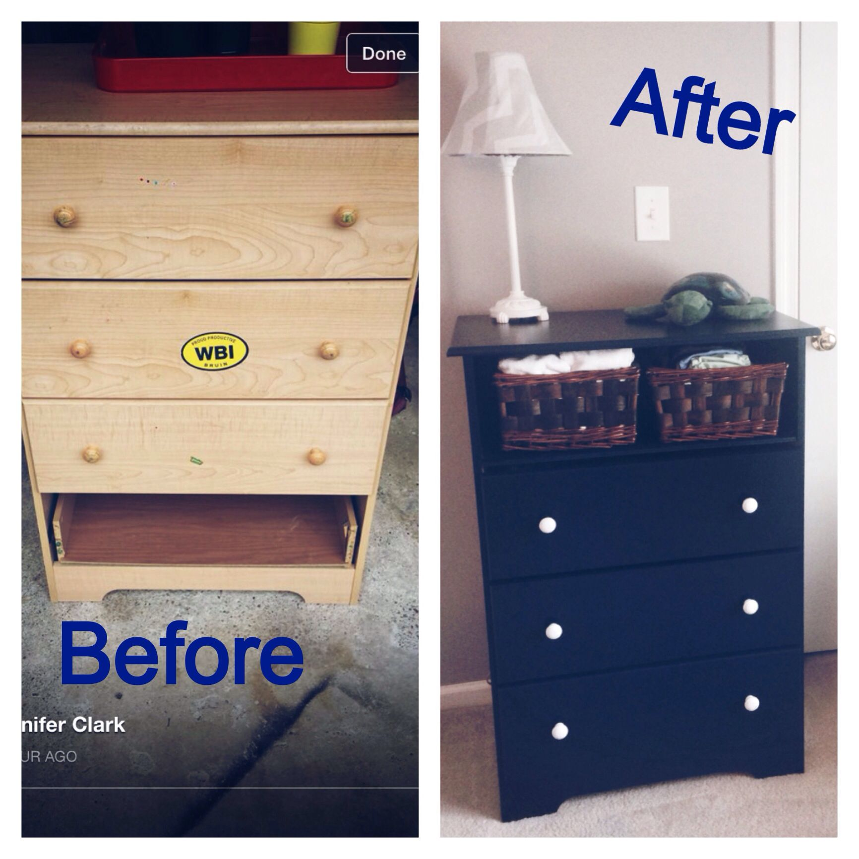 Repurposed Chest Broken Drawer Remover Drawer And Drawer Track Replace With A Board To Use As A Shelf And Brace W Furniture Makeover Drawer Tracks Furniture
