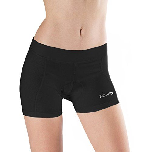 Baleaf Women/'s 3D Padded Bicycle Cycling Underwear Pure Black Breathable