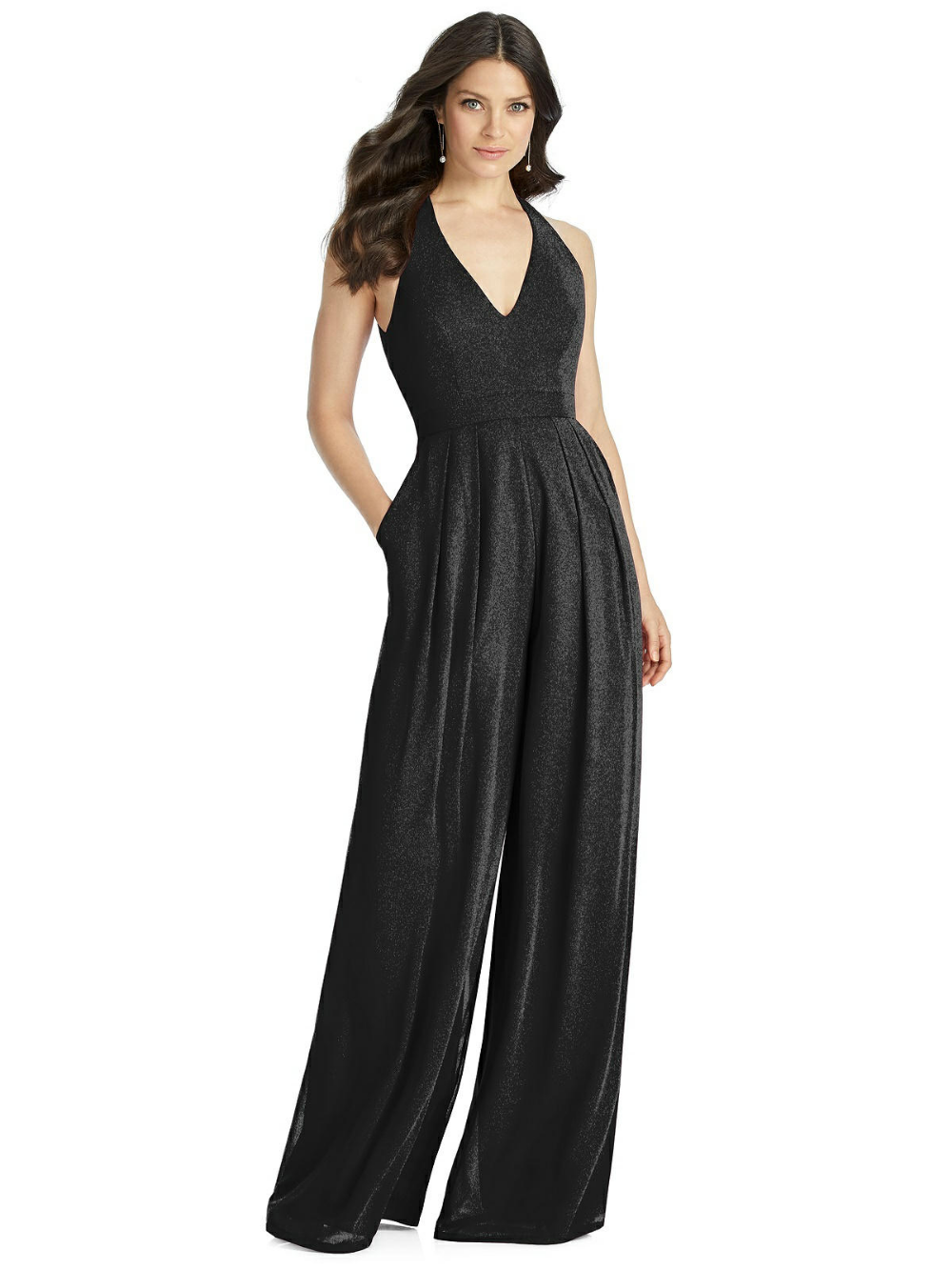 Dessy 3046LS Open Back Bridesmaid Jumpsuit