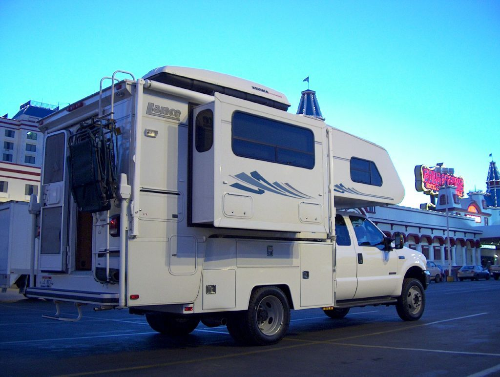 Lance camper mounted on utility body in 2003. Custom