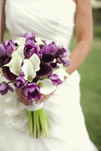 Calla Lilies And Tulips Bouquet Perfect With A Diffe Color