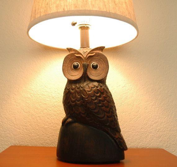 Handmade owl table lamp owls birds pinterest owl handmade owl table lamp aloadofball Gallery