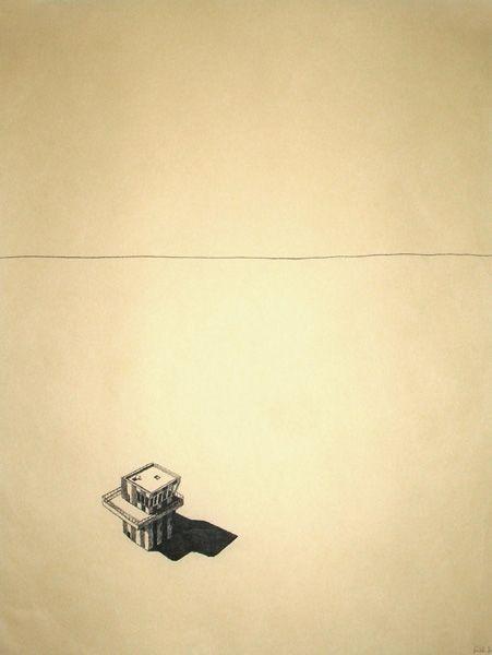 Felicity Warwick - 'untitled 44' - ink on paper monoprint - 68 x 49 cm - 2007