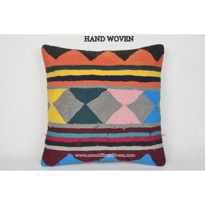 kilim cushion motif throw pillow