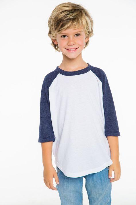 Boys vintage jersey w/ triblend 3/4 sleeve raglan