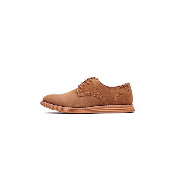 Big Size Men Suede Pure Color Lace Up Flat Casual Oxford Shoes ($31) ❤ liked on Polyvore featuring men's fashion, men's shoes, camel, shoes men's shoes flats, mens lace up shoes, mens suede oxford shoes, mens flat shoes, mens shoes and mens summer shoes