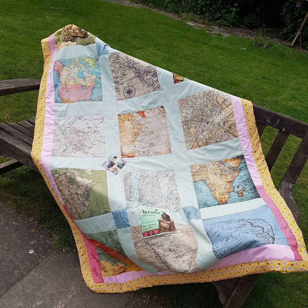 My husband requested to make a picnic blanket with world map fabric amazon sewing kit my husband requested to make a picnic blanket with world map gumiabroncs Images