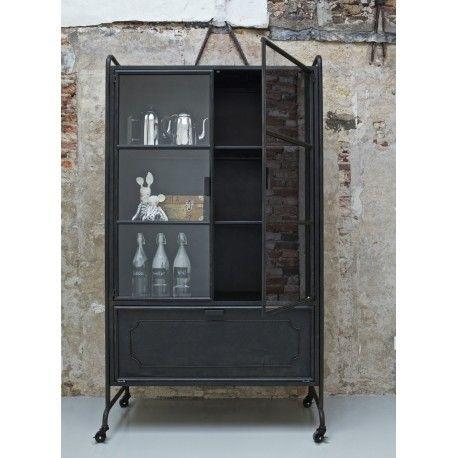 Bepurehome Black Metal Storage Cabinet Industrial Design