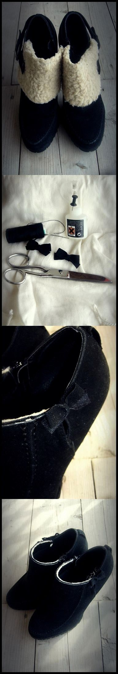 shoes using needle and thread scissors needleRefashion shoes using needle and thread scissors needle 15 tutorials on how to transform an old pair shoes into something new...