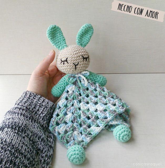 Manta de Apego Crochet | Schmusetuch, Häkeln baby und Kleinkinder