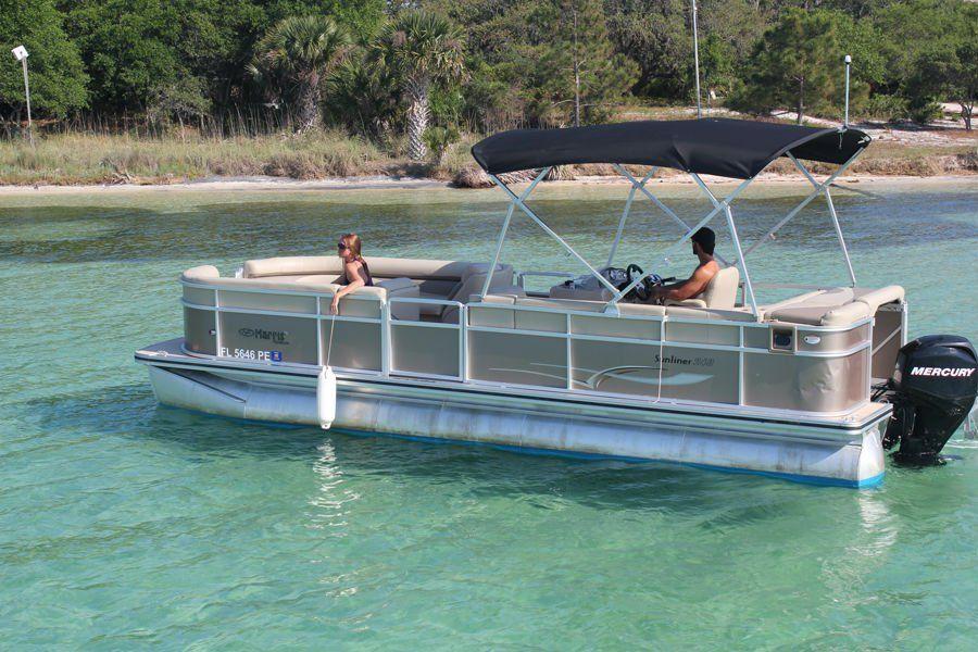 Destin x pontoon boat rental departing from destin harbor