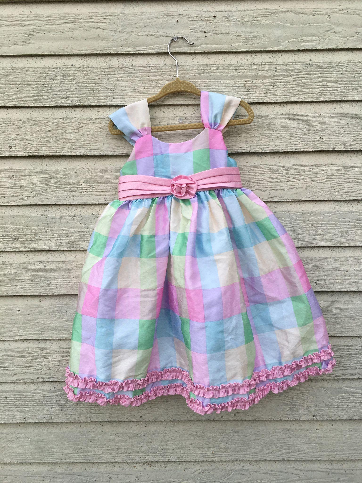 Marmellata Pastel Plaid Dress 3T sarada Pinterest