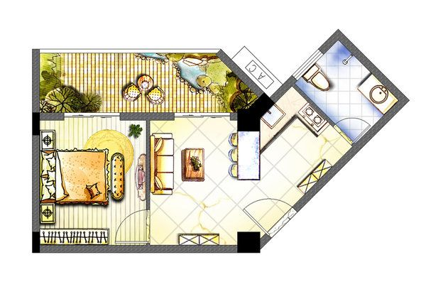 Rendered Floor Plan Watercolor Google Search With Images
