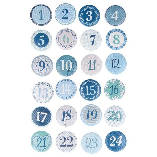 Cabochons en bois noel givr chiffres calendrier de l 39 avent no l calendrier de l 39 avent - Chiffres pour calendrier de l avent a imprimer ...