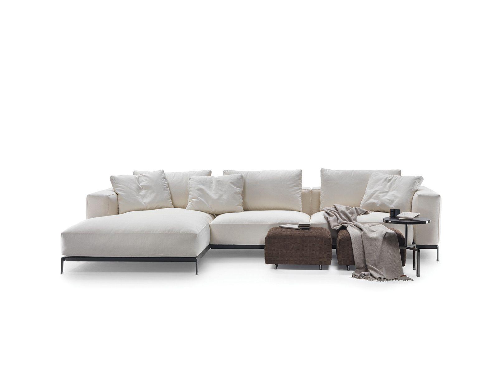 Ettore 2016 divano con chaise longue collezione ettore for Chaise longue flexform
