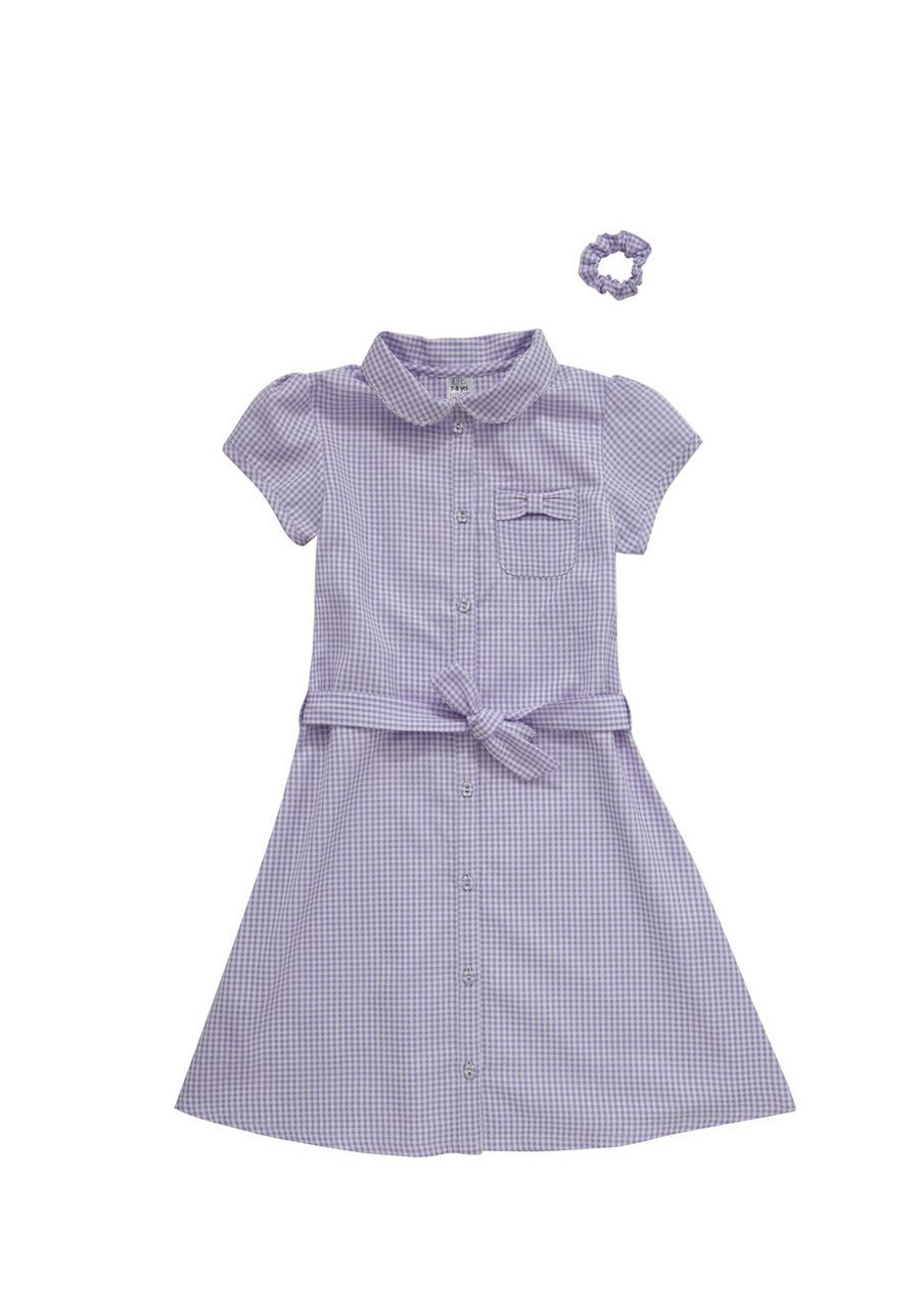 Girls school uniform dress red gingham summer size 7-8 YEARS F/&F