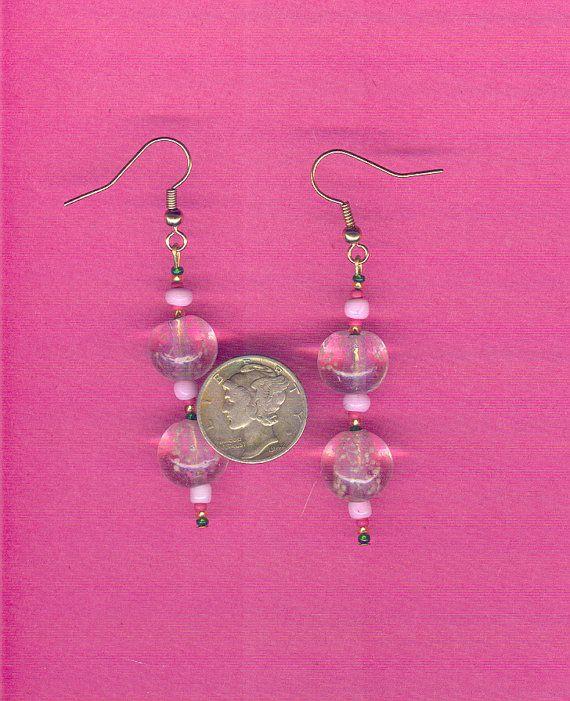 Tween Earrings Pink Glow In The Dark By Southernspiritscurio 2 50
