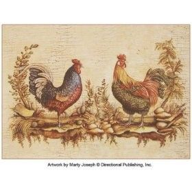 French Rooster Fabric Placemat Kitchen And Dining Roosters Furniture Dcor Home Decor