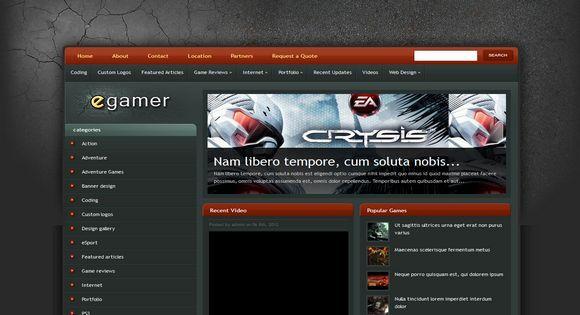 eGamer Blogger Template é um template blogger para blog de jogos e etc. Com layout elegante, eGamer tem 2 colunas, 1 sidebar esquerda, slide de conteúdo em destaque, resumo de postagem leia mais, background personalizado e muito mais.