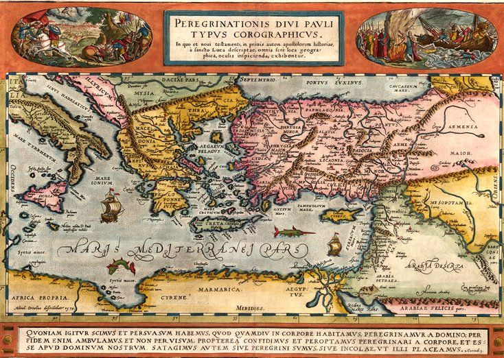 1570 Year Old Europe Map Poster Classic Vintage Retro Home Bar Wall Decoration