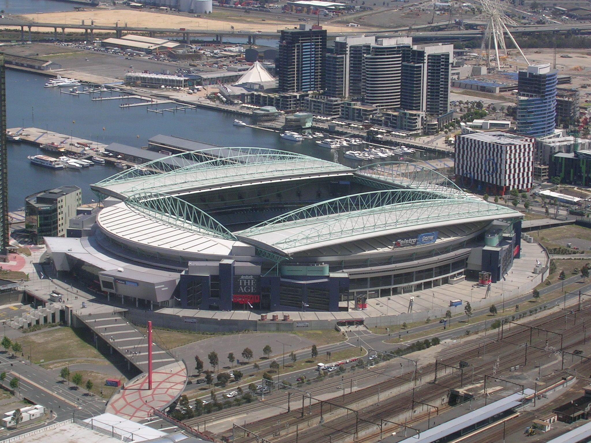 Etihad Stadium Melbourne Capicity: 56,000 | Docklands stadium, Docklands,  Australia travel