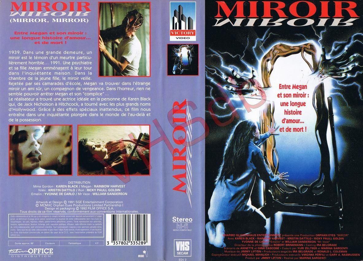 MIROIR, MIROIR (MIRROR, MIRROR, Rainbow HARVEST, S.G.E., 1990), VHS SECAM,  VICTORY VIDEO, FILM OFFICE, FRANCIA, | Comic book cover, Book cover, Comic  books
