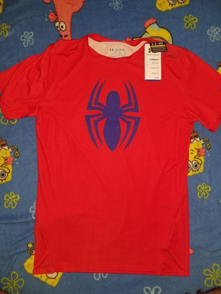 UNDER ARMOUR Alter Ego Compression Marvel Spider-Man Short-Sleeve Shirt XXL 2XL