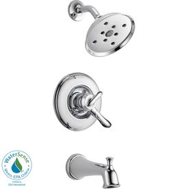Delta Linden Chrome 1 Handle Watersense Bathtub And Shower Faucet