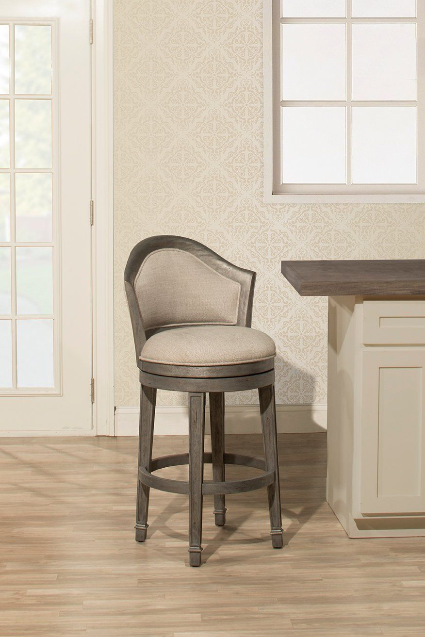 Distressed Gray 30 Inch Swivel Barstool Monae Rc Willey Furniture Store Bar Stools Swivel Bar Stools Counter Stools