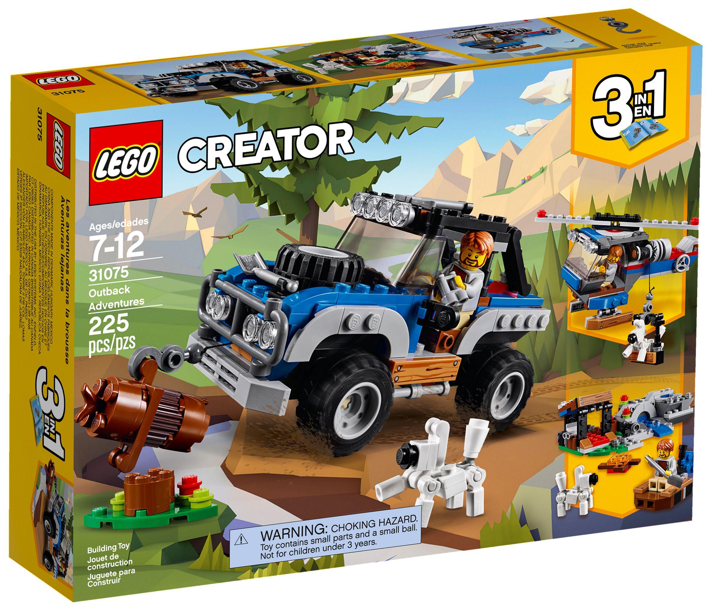 Lego Creator 31075 Pas Cher Les Aventures Tout Terrain Lego Idees Lego Pare Buffle