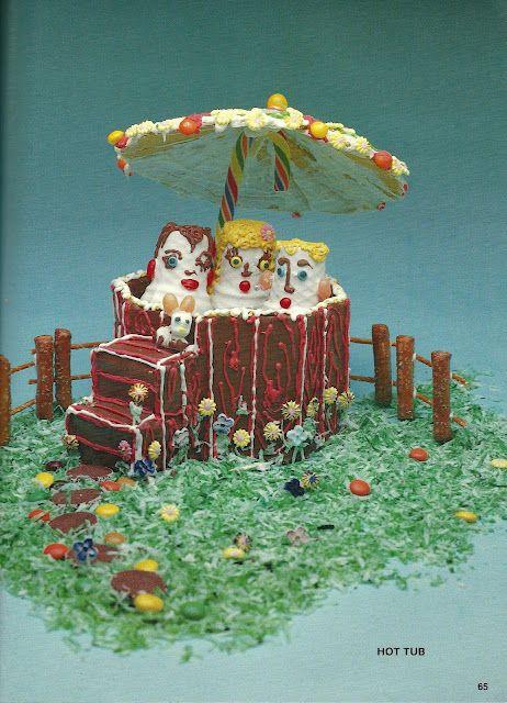 Chocolate Hot Tub Scary Food Retro Recipes Vintage Cake