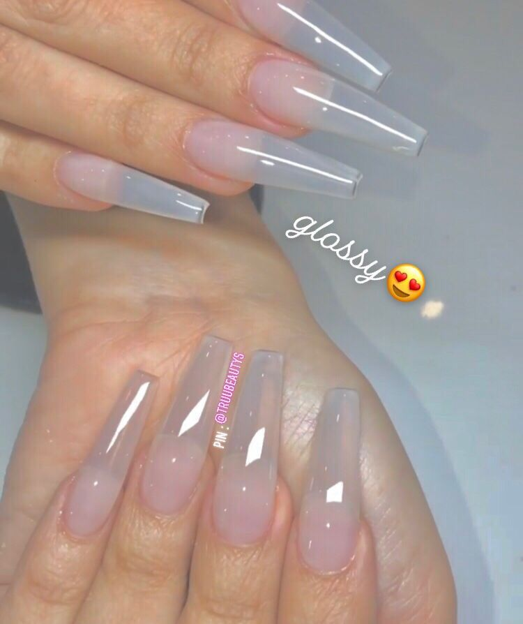 Follow Me For More Content Clear Acrylic Nails Coffin Nails Designs Pretty Acrylic Nails
