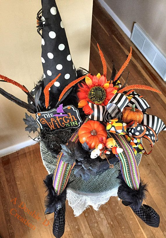 Witch Centerpiece Halloween Centerpiece Halloween Decor Halloween - halloween centerpiece