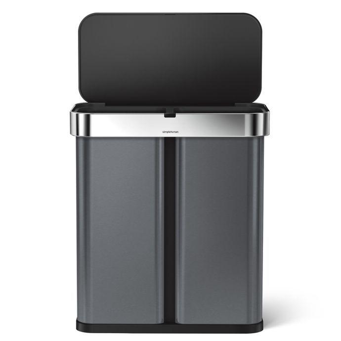 Best Simplehuman® 58 Liter Dual Compartment Voice Motion 400 x 300